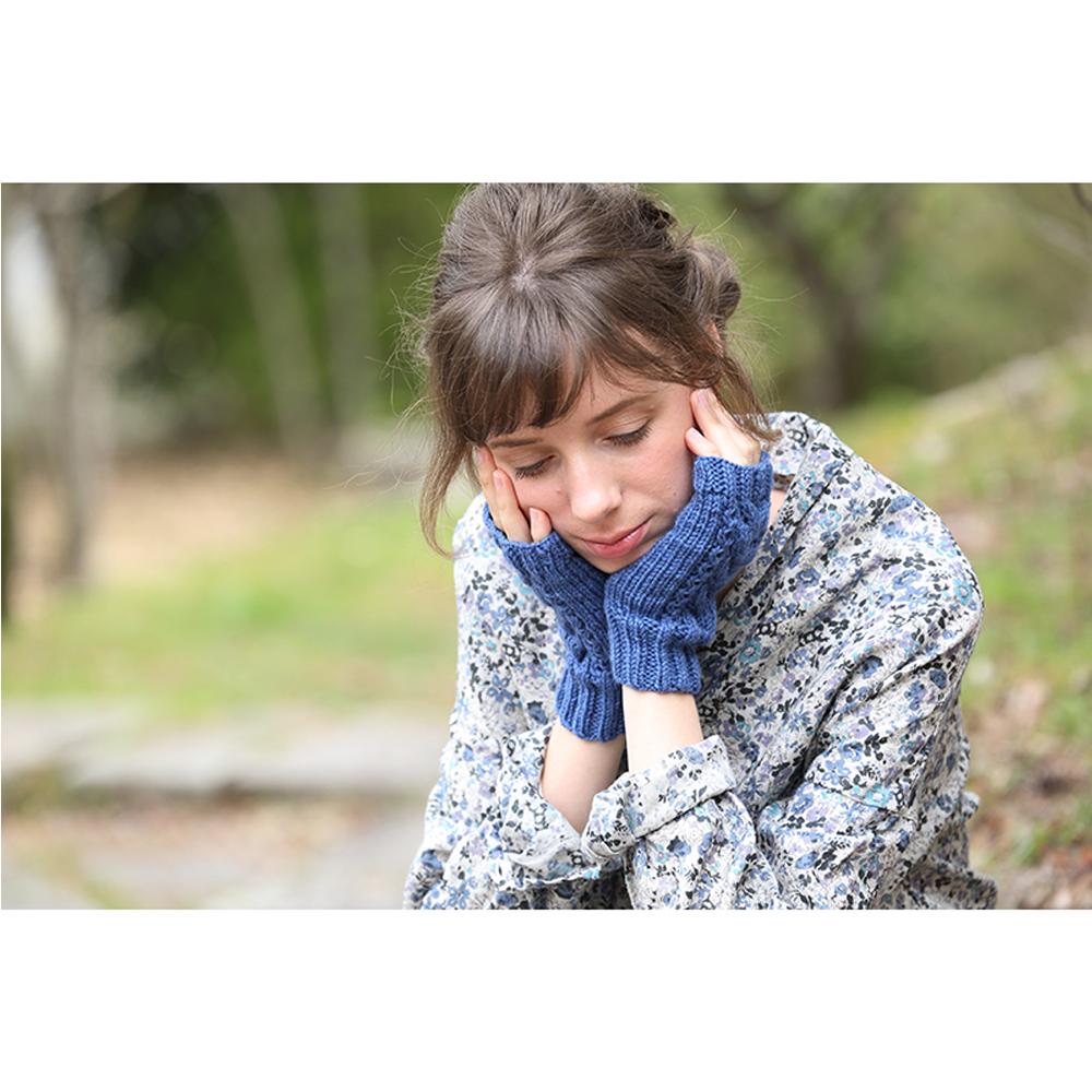 編み物作品集モデル撮影