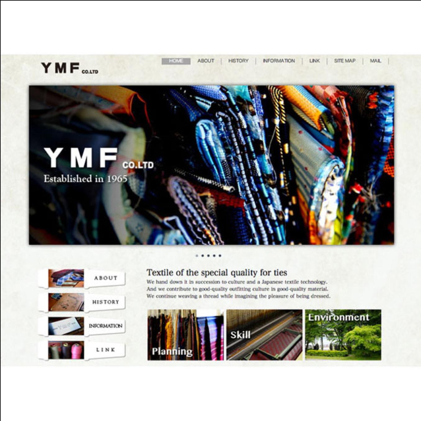 YMF ホームページデザイン