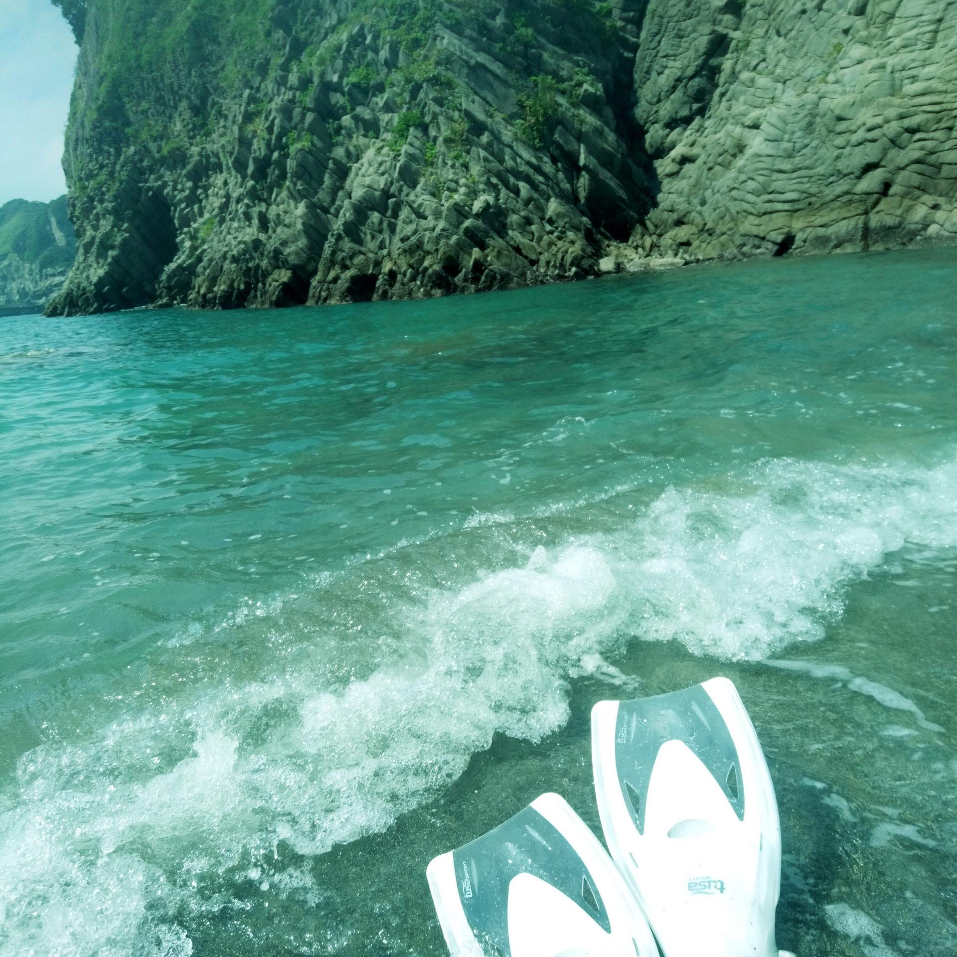 海でのシュノーケリング