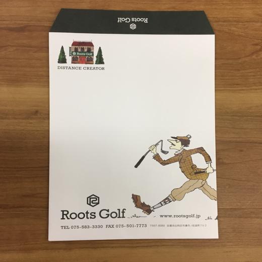 RootsGolf封筒デザイン