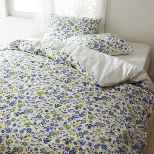 通販メーカー ベッドカバー 花と鳥